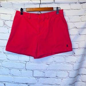 Ralph Lauren Red Sport Chino Shorts Size 8
